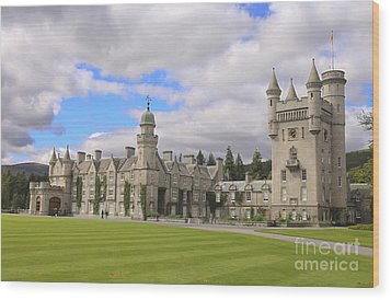 Balmoral Castle In Scotland Wood Print by Patricia Hofmeester