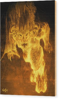 Balrog Of Morgoth Wood Print
