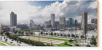 Baltimore Maryland Wood Print by Olivier Le Queinec