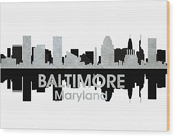 Baltimore Md 4 Wood Print by Angelina Vick
