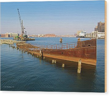 Wood Print featuring the photograph Baltimore Museum Of Industry by Brian Wallace