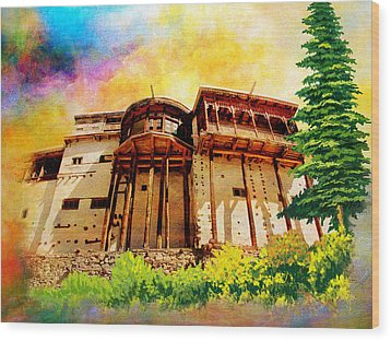 Baltit Fort Wood Print by Catf