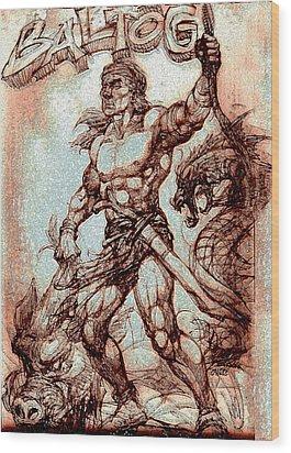 Baltog Bicol Epic Wood Print by Manuel Cadag