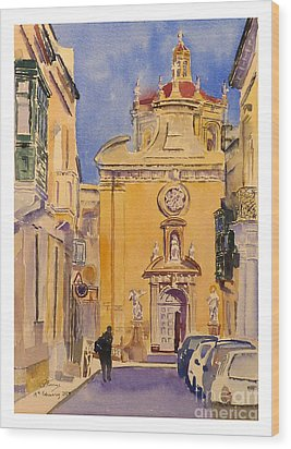 Balzan Parish Church Wood Print