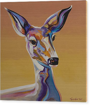 Wood Print featuring the painting Bambi by Bob Coonts