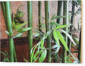 Wood Print featuring the photograph Plant -  Bamboo  -  Luther Fine Art by Luther Fine Art