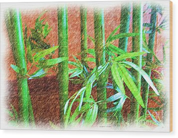 Bamboo #1 Wood Print by Luther Fine Art