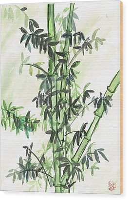 Bamboo Wood Print by Amberlyn How