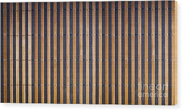 Bamboo Mat Texture Wood Print by Tim Hester
