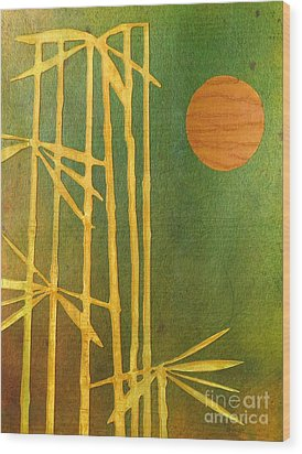 Bamboo Moon Wood Print by Desiree Paquette