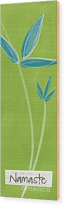 Bamboo Namaste Wood Print by Linda Woods