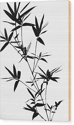 Bamboo Shadows Wood Print by Jenny Rainbow