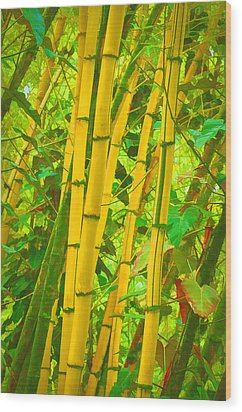 Bamboo Trees Wood Print by Art Brown