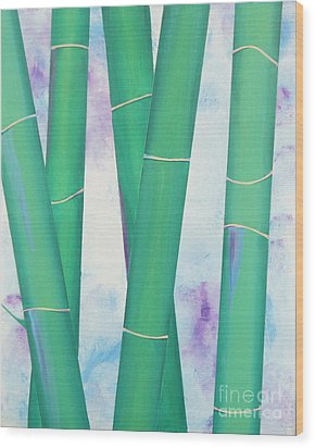 Bamboo Tryptych 2 Wood Print