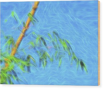 Bamboo Wind 1 Wood Print by William Horden
