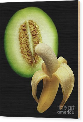 Banana And Honeydew Wood Print