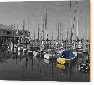 Banana Boat Wood Print