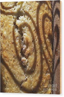 Banana Bread Love Wood Print by Gwyn Newcombe