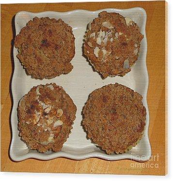 Banana Oat Crunch Muffins Wood Print