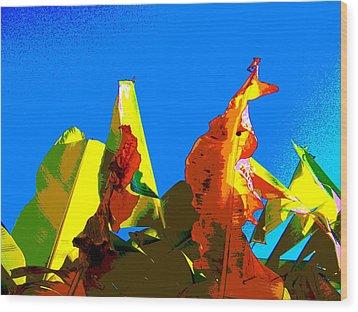 Banana Skies Wood Print by Rebecca Flaig