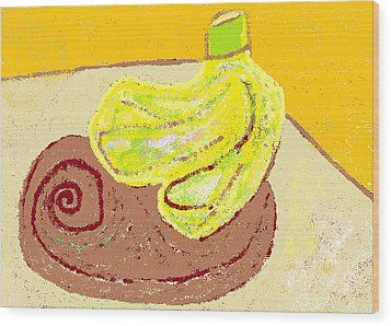 Bananas From Paphos 3 Wood Print by Anita Dale Livaditis