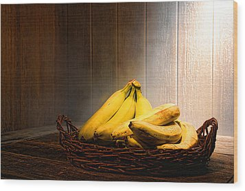 Bananas Wood Print by Olivier Le Queinec
