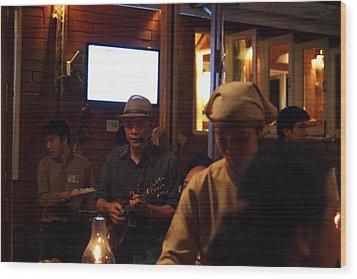 Band At Palaad Tawanron Restaurant - Chiang Mai Thailand - 01134 Wood Print by DC Photographer