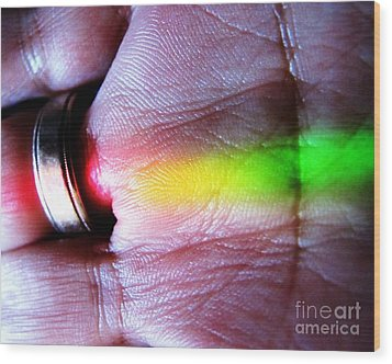 Band Of Rainbow Forensics Wood Print by John King