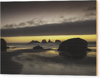 Bandon By The Sea Wood Print by Jean-Jacques Thebault