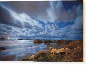 Bandon Nightlife Wood Print by Darren  White