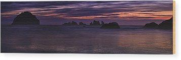 Bandon Panorama Wood Print by Andrew Soundarajan