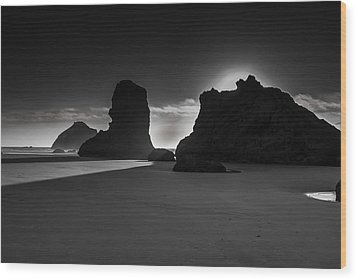 Bandon State Park Wood Print by Jean-Jacques Thebault