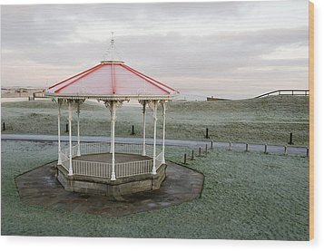 Wood Print featuring the photograph Bandstand In Winter by Jeremy Voisey