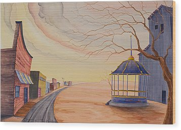 Wood Print featuring the painting Bandstand by Scott Kirby