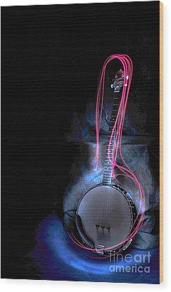 Banjo Wood Print by Randi Grace Nilsberg