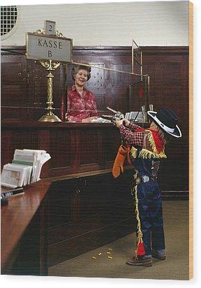 Bank Heist Wood Print