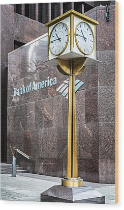 Bank Of American Building In Boston Wood Print by Boris Mordukhayev