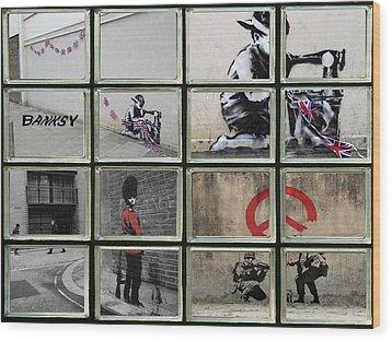 Banksy Street Art Wood Print