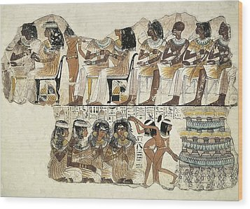 Banquet Scene. Ca. 1350 Bc. 18th Wood Print by Everett