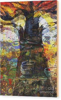Baobab Tree  Wood Print by Fania Simon