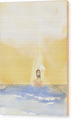 Baptism Wood Print by John Meng-Frecker
