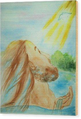Baptism Of Christ Wood Print by Melanie Palmer