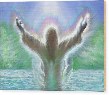 Baptism Of Yshuah Wood Print