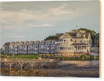 Wood Print featuring the photograph Bar Harbor Inn  by Trace Kittrell
