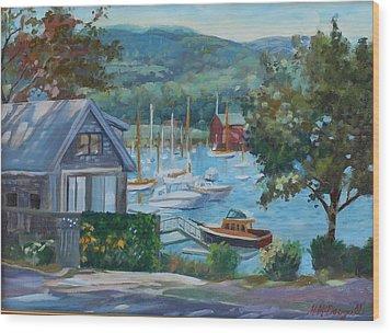 Bar Harbor Maine Wood Print by Michael McDougall