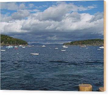 Wood Print featuring the photograph Bar Harbor Me by Gene Cyr