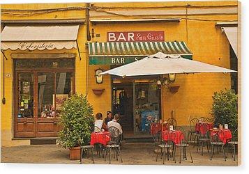 Bar San Giusto Wood Print by Mick Burkey
