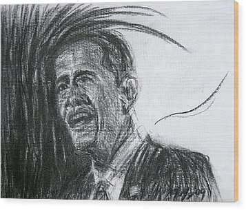 Barack Obama 1 Wood Print by Michael Morgan