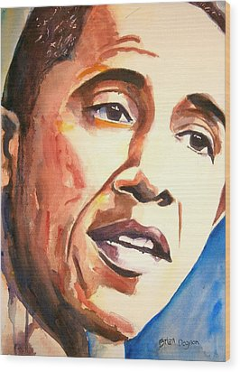 Barack Obama Wood Print by Brian Degnon