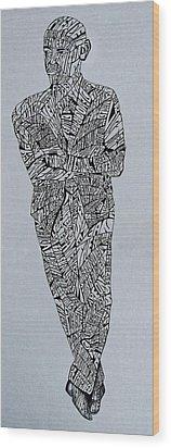 Barack Obama Wood Print by Lourents Oybur